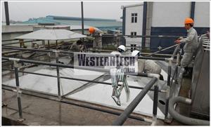 Dự án xử lý nước thải nhà máy dệt may TAV, Thái Bình, Công suất 500 m3/ ngày
